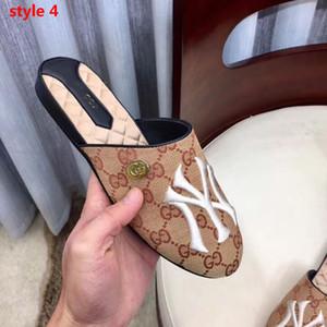 Brand Luxury Designer Damen Sandalen Europäische Leder Half Slipper Superstar Jelly Sandalen Klassische Stickerei flache Strandschuhe von hoher Qualität