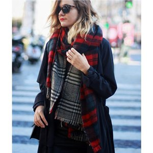 2017 Winter Brand Designer Triangle Scarf Women Shawl Cashmere Autumn Plaid Wool Scarves Blanket Wholesale Free Shipping