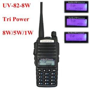 Оригинальный BaoFeng UV-82 8W Baofeng UV 82 Walkie Talkie Tri-Power 136-174400-520MHz двухдиапазонный портативный FM-трансивер