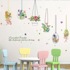 3D-Wand-Aufkleber-Blumen-Wand-Papier-Familie Blumen-Anlage DIY Removable Art Vinylwand-Aufkleber-Abziehbild-Wandhauptdekor