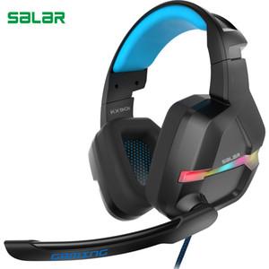 KX901 USB Virtual 7.1 Gaming Headset filaire Gaming Headset filaire Casque Subwoofer Vibrant RGB Light Casque avec Micro écouteurs