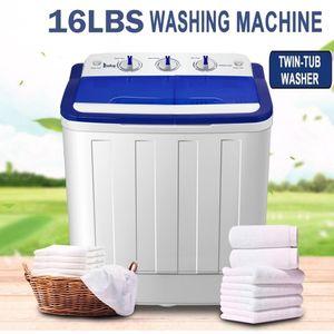 16lbs شبه تلقائي المحمولة غسل البسيطة آلة ضغط التوأم حوض الغسالة تدور الجاف الأبيض للشقة مساكن الرئيسية شحن الولايات المتحدة