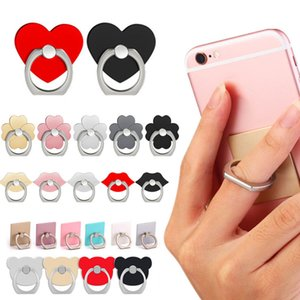 Finger Ring cell Phone Ring Holder Bracket Metal Lazy Ring Buckle Mobile Phone Bracket 360 Degree Stand Holder For universal mobile iphone
