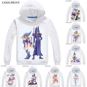 Dark Magician Girl Black Mens Hoodies Duel Monsters Yu-Gi-Oh King of Games Men Sweatshirt Streetwear Anime Hoodie Printed Long Hooded