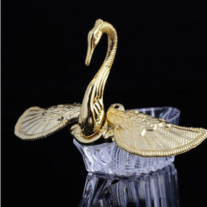 European Styles Acrylic Gold Silver Swan Sweet Wedding Gift Jewely Candy Box Candy Gift Boxes Wedding Favors Holders