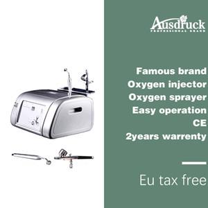 Eu tax free Máquina de oxigênio Jet Peel Facial skin care Remoção de acne Removedor de rugas Injeção de oxigênio Spray de rejuvenescimento da pele + Toalha como presente