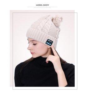 Wholesale Beautiful Soft Warm Beanie Hat Wireless Bluetooth Headphones Smart Headphone Headset Speaker Bluetooth hat With Mic