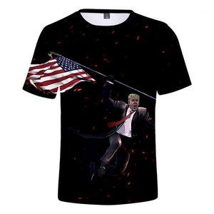 Kumaş Amerikan Donald Trump Seçim 3D Baskı Man Tişört Tasarımcı Kazak Man Nefes Hemme Casual Tops