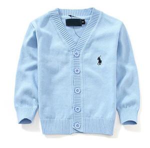 2020 de los nuevos niños ropa de marca Top 100% de algodón para bebés suéter de alta calidad para niños Ropa de abrigo muchacho de las muchachas suéter con cuello en V suéteres del polo