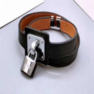 Luxus Designer Schmuck Womens Armband Leder Armband Männliche und weibliche Paar Sperre Armband Marke Armreifen
