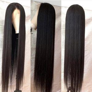 250 densidade longa peruca 24inch 360 Lace Front Humanos perucas de cabelo com cabelo do bebê de Remy do brasileiro 13 * 6 Lace Wig frontal