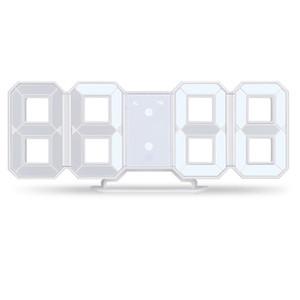 3D LED Reloj de Pared Moderno Reloj Digital de Alarma Pantalla de Cocina en el Hogar Mesa de Oficina Escritorio Noche Pared 24 O 12 Horas de Visualización