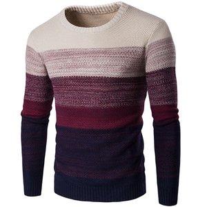 Moda-Uomo Designer Maglione casuale sfumatura di colore maschile autunno-inverno con pannelli girocollo manica lunga Pullover