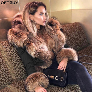 OFTBUY 2020 Winter Jacket Women Long Parka Real Fox Fur Coat Natural Raccoon Fur Collar Hood Thick Warm Streetwear Parkas New