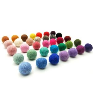 30 milímetros de lã de feltro de lã Beads ornamento das esferas mão-Feltrados Pom Poms agulha para o Natal Decoração DIY Garland Crafts Projeto, 50pc / lot