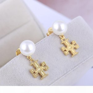 Luxurious Quality Women charm earring with pearl and diamond decorate for women wedding jewelry gift free shipping PS6661