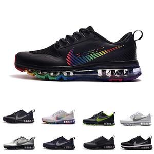 Los nuevos Mens de los zapatos corrientes Triple Negro Zapatos Amortiguador colorido de los hombres al aire libre Deportes Joggers las zapatillas de deporte para mujer entrenadores de atletismo de gran tamaño 7-12