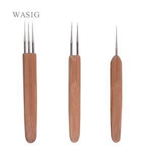 Ferramentas Pneumáticas Acessórios Gancho Needle Bamboo Crochet Needle Para cabelo do dreadlock Acessórios peruca fazer ferramentas Dreadlocks Gancho Needles 1/2 ...