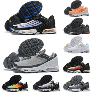 2020 zapatos corrientes Plus III 3 TN del diseñador del Mens TUNED transmisiones al aire libre clásica tn Negro Blanco Deporte choque zapatillas Requin araña azul 36-45