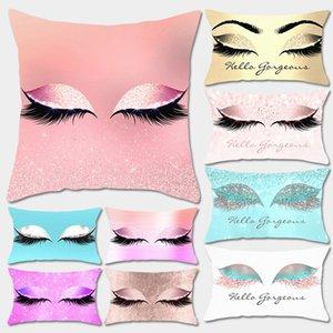 80 стилей наволочка для ресниц персиковая кожа крышка подушки INS fashion home hotel спальня автомобиль deocr глаза наволочка FFA2576