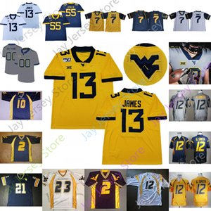 Personalizzato 2020 West Virginia Mountaineers Wvu Jersey NCAA College David Long Stewart Smith Buie Joseph Bailey Austin Irvin Jones Jones