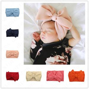 Kinder-Baby Big Bow Weit elastisches Stirnband-Haar-Band Wraps 30 FARBEN INS Infant Newborn Bowknot Hair hairwrap-Kopf-Verpackung Turban D6100