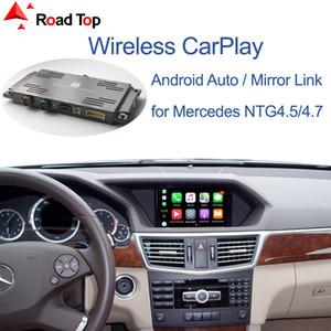 واجهة CarPlay اللاسلكية لسيارات مرسيدس بنز الفئة- E W212 E كوبيه C207 2011-2015، مع تشغيل الروبوت السيارات مرآة رابط البث السيارات