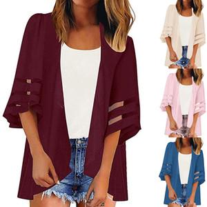 Spot 2019 explosions plage impression écran solaire chemise kimono maille coutures châle crème solaire Beachwear blouse vêtements, soutien lots mixtes