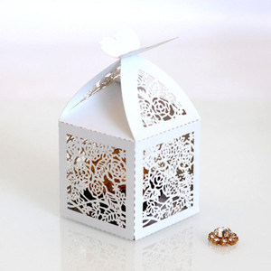 Oco Die-Cut borboleta Bukle caixas do favor do casamento caixas de doces do presente de casamento oco Rose Chocolate Box