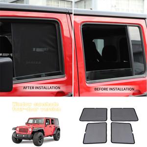 Боковые окна Зонтики Автомобиль занавес для Jeep Wrangler 2007-2017 Изоляция насекомых Сетка для Wrangler JK аксессуары Side Window Зонт