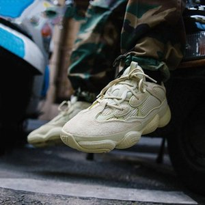 2019 High Quality Wave Runner 500 Real Womens Mens Running Shoes Design By Kanye West Season5 500s Sneakers Men Boots size 36-46