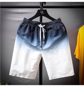 Pantolon Gradyan Renk Moda Erkek Şort Yaz Moda Spor Kısa Erkek Pantolon Relaxed İpli Yeni Casual