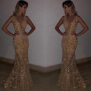 На складе Silver Gold горячие модели взрыва сексуальный глубокий V платье без рукавов блесток юбка / S-2XL На складе Размер новые изысканные коктейльные платья