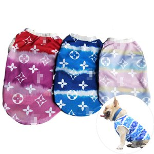 3 Colors Personality Printed Pet Vests High Street Breathable Bulldog Shirts Creative Letter L Pattern Teddy Schnauzer Apparel