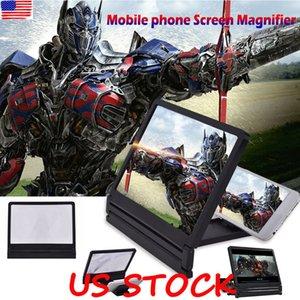 3D المكبر شاشة الهاتف المحمول HD فيديو مكبر للصوت للهاتف الذكي حامل تكبير