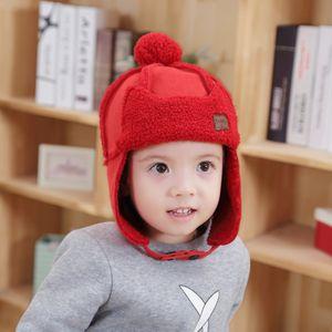 New Joker Baby Hat Outdoor Warm And Velvet Helmet Trend Cotton Cap For Boys And Girls
