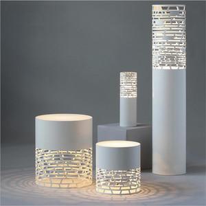 Arte LED moderna Mesita de noche de luz de lámpara de hierro iluminación del escritorio Lámparas de pie a cielo abierto talla Luces de la noche para el dormitorio sala de estar Iluminación para el hogar