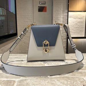 Art2019 Новый женский новогодний тренд Cool Will Женская сумка на одно плечо из натуральной кожи Hit Color Geometry Shell Package