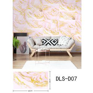 Thick PVC selbstklebende Wand-Sticker wasserdichte Badezimmer Küche Heim Dekorative WC Zubehör-Shop Moderne DIY 3D Marmor