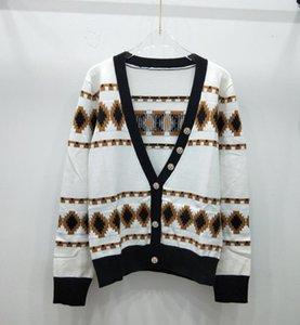 114 2019 nuove donne di blocco di colore a maniche lunghe o-collo logo lettera stelle stampano cime maglione caldo ispessimento casuali ponticelli a maglia