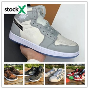 2020 Newest Release white 1 1s UNC luxury High OG men women basketball shoes high quality outdoor off sneakers