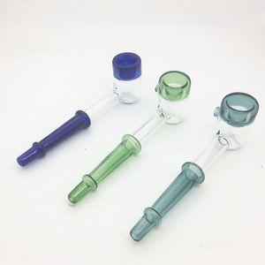 Cheap grossas inebriantes mini-cachimbos de vidro coloridos Mão de vidro tubo de colher para fumar erva seca Pipes colher de vidro