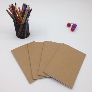 Couro papel em branco Notebook Blocos macia caderno do livro do vintage Diário Memos Kraft Capa de revista Cadernos