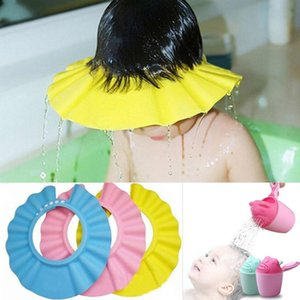 Safety Baby Shower Cap Adjustable EVA Foam Shampoo Cap Protect Newborn Eyes Hair Cartoon Baby Shampoo Cup Wash Hair Visor Caps