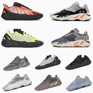 Kanye batı koşu ayakkabıları 700 erkek kadın Tie-boya Hastanesi Teal Mavi Mıknatıs Utility Siyah Mauve dalga koşucu erkek eğitmenler spor ayakkabıları 36-46