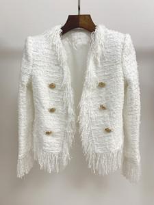 811 2019 Automne Marque Même Style Manteaux Col En V À Manches Longues Pourpre De Luxe Bouton Vêtements Pour Femmes Oulaidi