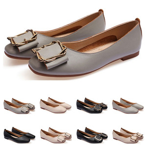 ladies flat shoe lager size 33-43 womens girl leather Nude black grey New arrivel Working wedding Party Dress shoes Fifty-seven