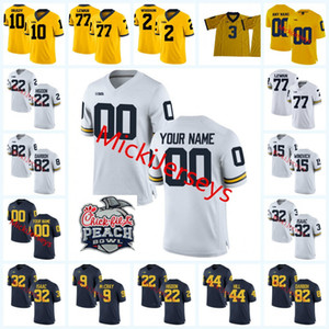 Özel NCAA Michigan Wolverines Futbol Jersey Ben Mason Nick Eubanks O'Maury Samuels Donovan Peoples-Jones Zach Gentry Wolverines Jersey
