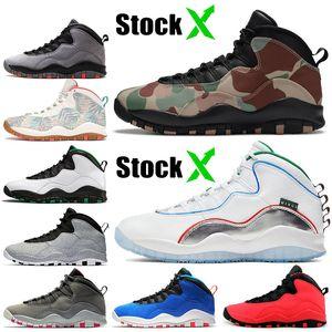 2020 Top Jumpman Stock x Super Bowl LIV 10 10s Mens Basketball Shoes Tinker Racer Blue Smoke Grey Fashion Mens Trainers designer sneakers