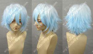 Gintama Sakata Gintoki Blue Cosplay Wig + Free Wigs Hairnet
